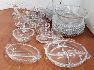 Candlewick Clear Dishes   39 pieces   Bring Boxes to load Out