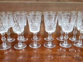 12 Crystal Wine Glasses   3 have been repaired