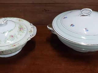 2 Covered Casserole Dishes   STS Japan   l amandinoise   various designs