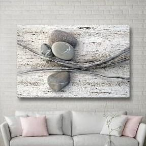 The Gray Barn Elena Ray  Still life Sticks Stones  Gallery Wrapped Canvas Art