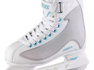 Roces Women s RSK 2 Figure Ice Skates lace Up Superior Italian White Gray Blue