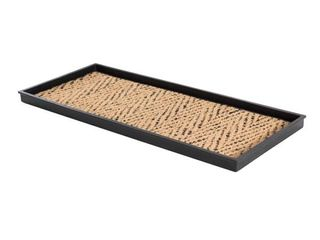 Natural and Recycled Rubber Boot Tray with Tan and Black Coir Insert