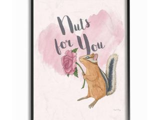 I m Nuts For You Pink Framed Giclee Texture Art