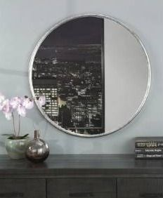 Copper Grove Encamp 30 inch Round Framed Wall Mirror  Retail 109 99