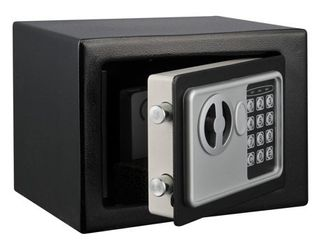 Digital Security Safe Box for Valuables  Compact Waterproof and Fireproof Steel lock by Stalwart  Black