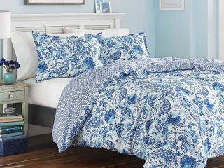 Poppy and Fritz Brooke Cotton Paisley Comforter Set  Retail 103 98