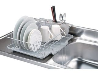 Home Basics 3 piece Dish Rack Drainer Set