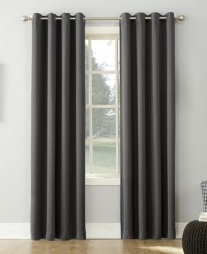 Set of 2 Sun Zero Hayden Grommet Blackout Single Curtain Panel