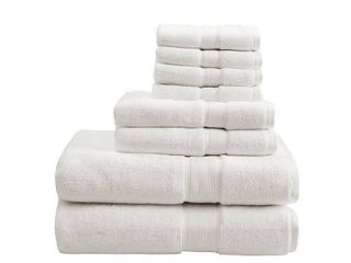 8pc Cotton Bath Towel Set Cream