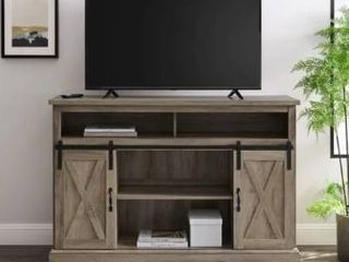 The Gray Barn Wind Gap Sliding Barn Door TV Stand Console  Retail 299 99