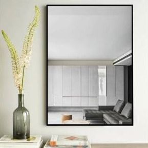Modern Thin Frame Wall Mounted Hanging Bathroom Vanity Mirror  Retail 128 99