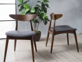 Carson Carrington lund Mid century Dining Chair  Set of 2  Retail 167 49