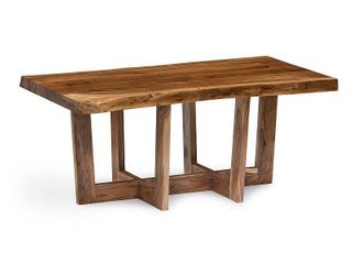 Berkshire 42  Natural live Edge Solid Wood Coffee Table  Retail 319 99