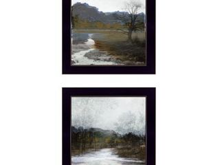 Winter landscape  By Stellar Design Studio  Ready to Hang Framed Print  Black Frame  Retail 77 48