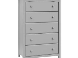 Storkcraft Kenton 5 Drawer Dresser Pebble Gray