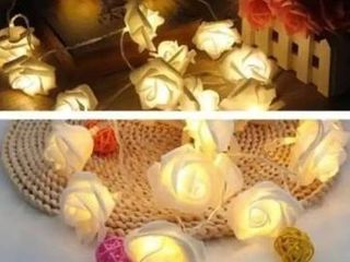 set of 2 20 lED Rose Flower lED String light