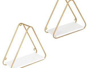Kate and laurel Tilde Triangle Accent Shelf Set   2 Piece