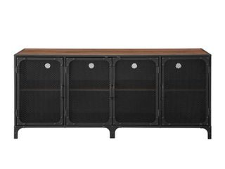 60  Industrial TV Stand   Dark Walnut