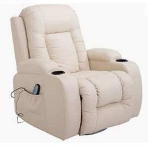HomCom Overstuffed luxury Faux leather Heated Massaging Recliner Chair with Drink Holders  Retail 424 99