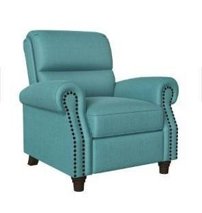 Copper Grove Jessie linen Push Back Recliner Chair   Blue