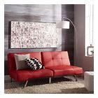 Abbyson Aspen Red Bonded leather Foldable Futon Sleeper Sofa  Retail 345 99