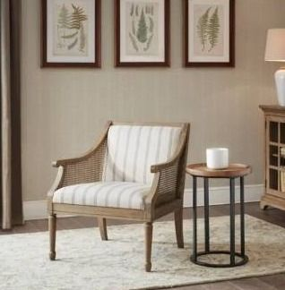 Martha Stewart Isla Accent Armchair  Beige   Retail value  458