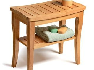 Bamboo Shower Stool Bench  Non slip Spa Chair Seat for Indoor or Outdoor Use by Bambusi