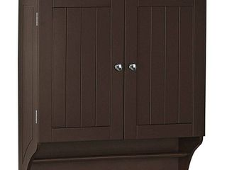 Ashland Collection 2 Door Bathroom Storage Wall Cabinet   Espresso