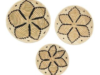 Stella   Eve Floral Woven Wall Decor 3 piece Set  Brown
