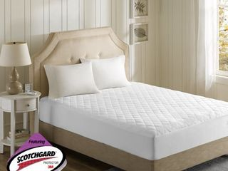 Microfiber Heated Mattress Pad with 3M Scotchgard  Twin Xl  White   Beautyrest