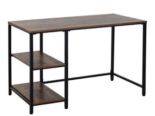 HomCom 47 inch Modern Industrial Computer Writing Desk  Retail 143 99