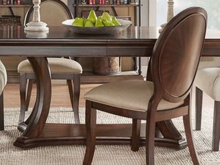 iNSPIRE Q Verdiana Rich Brown Cherry Finish Oval Dining Chair  Set of 2  by Classic