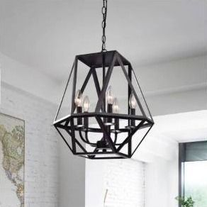 The Gray Barn Otis 5 light Modern Antique Black Iron Chandelier  Retail 96 49