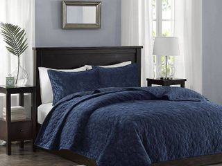 Quilt Set Full Queen Navy  Blue