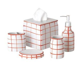 Sparrowhawk Brandon 5 Piece Bath Accessory Set  Retail 79 48