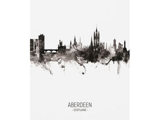Michael Tompsett  Aberdeen Scotland Skyline Portrait II  Canvas Art