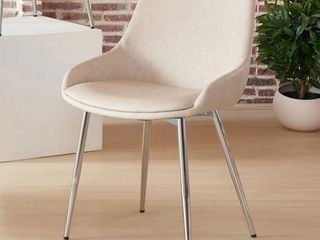 nspire Faux leather   Chrome Side Chair   Set of 2