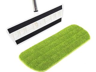 Kitchen   Home Hardwood Floor Flat Mop with 17 Washable Reusable Microfiber Pads for Wet or Dry Floor Cleaning Safe for All Surfaces