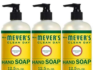Mrs  Meyer s Clean Day liquid Hand Soap  Cruelty Free and Biodegradable Formula  Honeysuckle Scent  12 5 oz  Pack of 3