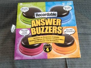 lEARNING RESOURCES RECORDABlE RECORD SOUNDS RECORD YOUR VOICE RRCORD MUSIC RECORD MESSAGES AGES 3