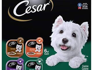 CESAR Soft Wet Dog Food Classic loaf in Sauce Poultry Variety Pack   24  3 5 Oz  Easy Peel Trays with Real Chicken  Turkey or Duck