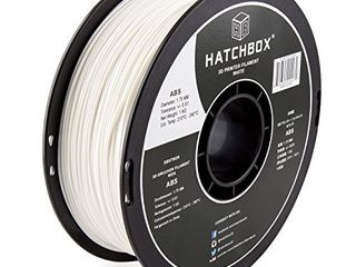 HATCHBOX ABS 3D Printer Filament  Dimensional Accuracy   0 03 mm  1 kg Spool  1 75 mm  White  Model Number  3D ABS 1KG1 75 WHT