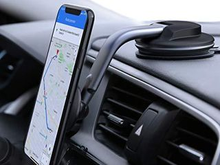 AUKEY Car Phone Mount 360 Degree Rotation Dashboard Windshield  Strong Magnetic  Cell Phone Holder for Car Compatible with iPhone 11 Pro 11 XS Max XS 8 7 and More