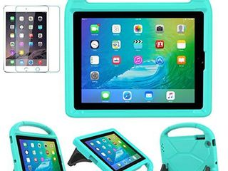 iPad 2 3 4 9 7 inch Old Model  Case for Kids   SUPlIK Durable Shockproof Protective Handle Bumper Stand Cover with Screen Protector for Apple iPad 2nd 3rd 4th Generation  Teal