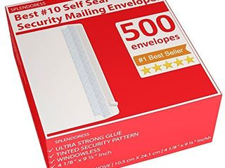500 Self Seal Security Mailing Envelopes    10 White letter Businesses Envelopes  500 Peel and Seal Tinted Windowless   10 Envelope   Printer Friendly   Self Stick Bulk Envelops