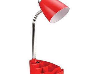 limelights lD1002 RED Gooseneck Organizer iPad Stand or Book Holder Desk lamp  Red