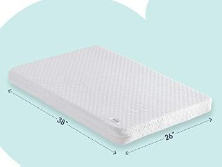 hiccapop Pack and Play Mattress Pad  Dual Sided  w Firm Side  for Babies    Soft Memory Foam Side  for Toddlers    Memory Foam Play Yard Mattress Pad   Playard Mattress Fits Most Pack N Play Playpens