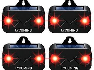 lycoming 4 Pack Deer Repellent Devices Raccoon Repellent for Nocturnal Animals Solar Predator Control light Coyote Deterrent Devices with Red lED Strobe lights Skunk Repellent for Yard