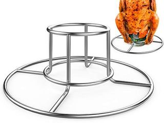 RUSFOl Beercan Chicken Rack  Stainless Steel Chicken Stand for Smoker and Grill