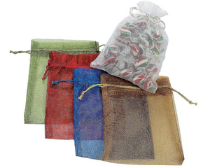 Colorful Mesh Gift Bags